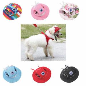 Pet Dog Hat Cap UV Protectant Fashion Mesh Breathable Hood Princess Hat