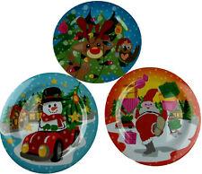 Set Of 3 Child's Christmas Melamine Dinner Plates - Cartoon Designs