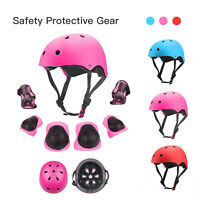 7Pcs Kids Sports Skating Protective Gear Set Safety Pad Helmet Knee Elbow Wrist