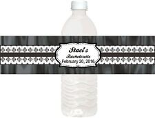 100  PERSONALIZED WEDDING WATER BOTTLE LABELS  WATER RESISTANT