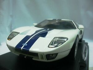WOW EXTREMELY RARE Ford GT43 GT40 550hp 2003 White Blue Stripes 1:12 Motor Max