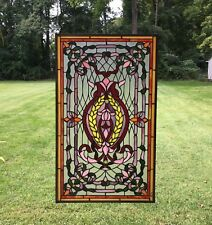 "20.5"" x 34.75"" Stunning Decorative Tiffany Style stained glass panel"