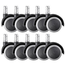 10 Pack Replacement Swivel Office Chair Wheels Casters Universal Fit Set Of 10