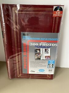 Photo Album by Pioneer 300 Pictures Bi-Directional Slip-In Pockets 4x6 NIP RED