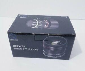 Neewer 85mm f/1.8 Portrait Manual Focus Telephoto Lens Manual Focus HD Glass