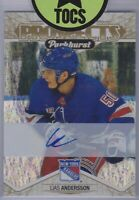 Lias Andersson 2018-19 Parkhurst Prominent Prospects Auto New York Rangers