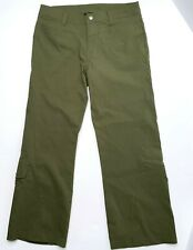 Athleta Women's Army Green Ankle Flare Pant With Leg Pockets Size 8P Active Hike