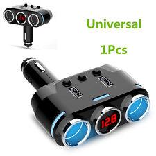 1x Universal 12-24V Dual USB Car Charger 2 Socket Car Cigarette Lighter Splitter