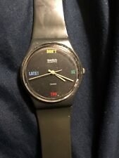 Swatch Watch DON'T BE TOO LATE! Wristwatch GA100 1984