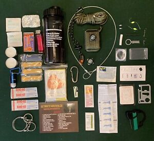 Emergency Survival Water Bottle - Survival Kit Bug out Bag Zombie Hurricane