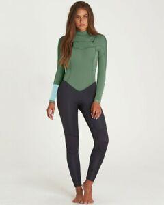 NWT 180$ Billabong JWFUNBY3 MOS Wetsuit 3/2 Synergy Chest Zip Fullsuit Black