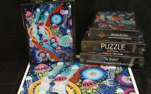 Authentic 500 piece Jigsaw Puzzle by Aboriginal Indigenous artist - To swim