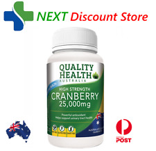 Quality Health High Strength Cranberry 25000mg 60 Capsules