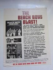 Beach Boys Concert 1964 Cashbox ad 11x15