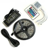 Bright 12V 5M 16.4ft 3528 5050 RGB SMD 300 LED Flexible Strip light+3M Tape