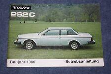 VOLVO 262c Bertone 1980 manuale di istruzioni manuale d'uso