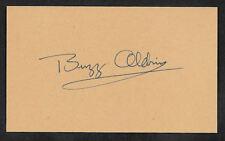 Edwin Buzz Aldrin Autograph Reprint On Original Period 1960s 3X5 Card