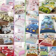 Kids Childrens Boys & Girls Single Bed Character Duvet Quilt Cover Bedding Set