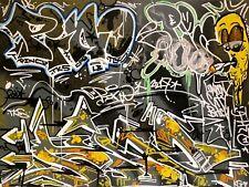 Original UK Graffiti street art canvas painting PINO TKS LB London graffiti