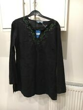 LCW WAIKIKI SIZE MEDIUM BLACK KAFTAN STYLE TOP WITH GEM & SEQUINS DETAIL BNWTS