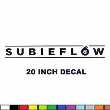 """SALE 20"""" SUBIEFLOW Windshield Decal subaru STI WRX BRZ turbo sticker vinyl subie"""