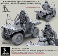 Live Resin 1/35 US Special Forces Modern ATV Rider w/Mk18 Carbine - Seating