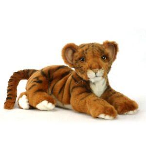 Wild Cat Lying Tiger Cub Hansa Realistic Animal Plush Toy 36cm **FREE DELIVERY**