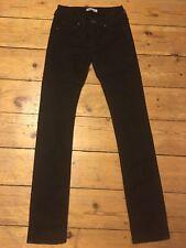 NEU! Acne Studios Skinny Jeans Hex Cash Schwarz Mid Rise High waist W29 L34 36