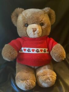 "VTG 1983 1985 GUND Tender Teddy Bear Plush Brown Stuffed Animal 13"" EUC w TAGS!"