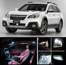 2010 - 2018 Subaru Outback Premium White LED Interior Package (12 Pieces)