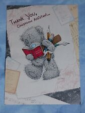 THANK YOU CARD CLASSROOM ASSISTANT ME TO YOU TATTY TEDDY SCHOOL NURSERY THANK