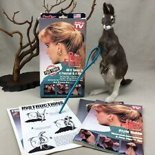 PONY FLIPS Hairstyler Vintage Hair Styling Tool As Seen on TV with Guides