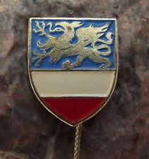 Rostock City Baltic Sea Dragon Shield Official Heraldic Coat of Arms Pin Badge