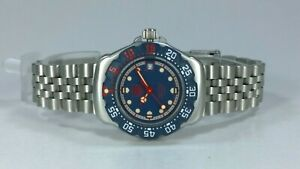 TAG Heuer F1 Formula One Ladies Quartz Watch Blue & Red Dial with Date & Box