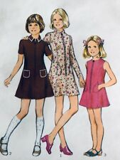 STYLE Vintage Pattern 4019 Girls Retro Zip Front Dress with Pockets UNCUT
