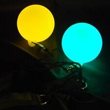 LED Glow Poi - Fade Through 7 Colours - Glow Spinning - Light Up Poi Balls