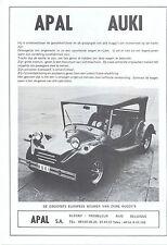 Apal auki Buggy VW Käfer basierendes Flämische Text Verkauf Artikel