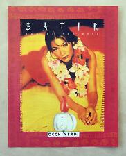 C046-Advertising Pubblicità-1997- BATIK OCCHI VERDI EAU DE TOILETTE
