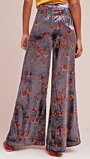 NWT $128 Anthropologie Ett Twa For Anthropologie Velvet Wide leg pants XL