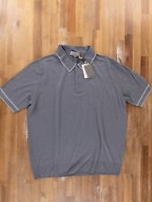 e5991414 Canali 2018 Gray Knit Wool Polo Shirt Authentic - Size XXL / 54 -