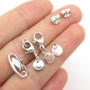 Tiffany & Co. Elsa Peretti Sterling Silver Set of 6 Parts / Clasps / Push Backs
