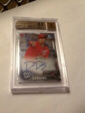 2016 Bowman Chrome Dane Dunning Nationals RC Rookie AUTO BGS 9.5 White Sox