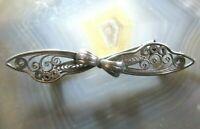 alte brosche schleife anmutig durchbrochen filigranarbeit silber 835 filigree