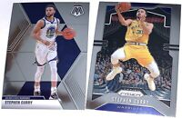 STEPHEN STEPH CURRY 2019-2020 PANINI PRIZM BASKETBALL BASE CARD #98 + MOSAIC #70