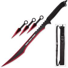 Snake Eye Tactical Ninja Sword and Kunai/Throwing Knife Set with Sheath