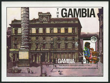 Gambia 876 S/S, MNH. World Cup Soccer Championships,Italy. Piazza Colonna, 1989