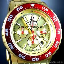 Invicta Reserve Ocean Master NE88 Automatic Watch 46mm Gold Steel Chron New