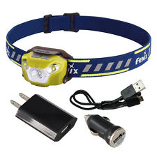 Fenix HL26R 450 Lumen Spotlight/Floodlight LED Rechargeable Headlamp (Yellow)