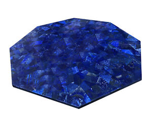 """36"""" marble table top lapis lazuli marquetry Inlay Handmade Home decor"""