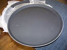 "Thunder Group Round 16"" Non-skid Serving Tray 3 each P/N Plst1600Bl"
